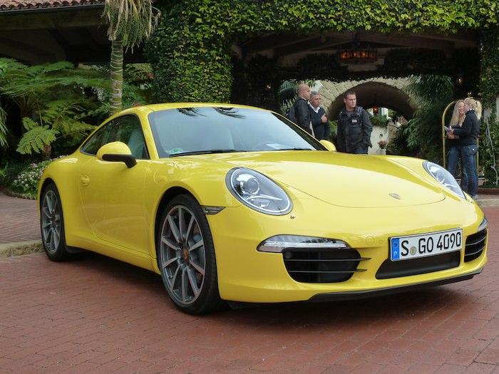 Porsche 911 (991) Model Year 2012. Racing Yellow