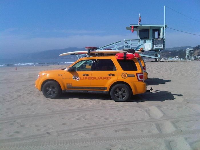 Lifeguard en la playa de Santa Monica