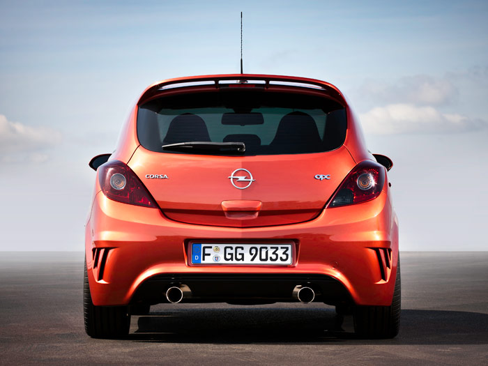 """Opel Corsa OPC """"Nürburgring Edition"""". Posterior"""