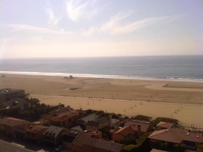 Playa de Santa Monica. California.