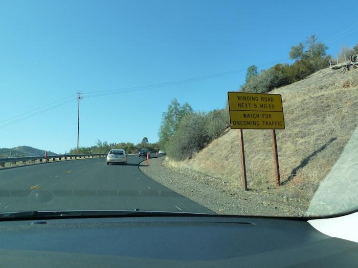 USA winding road. Carretera sinuosa. EEUU.