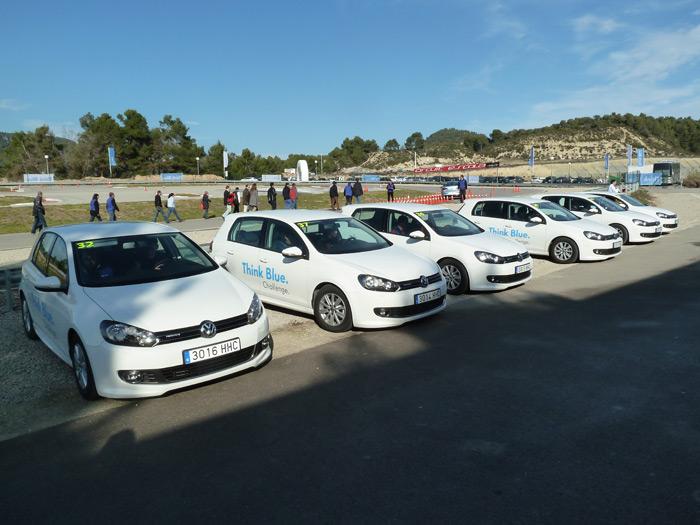 101 participantes de Volkswagen para consumir poco. Think Blue Challenge.