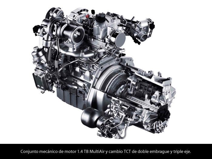 Alfa-Romeo MiTo 1.4-TB MultiAir TCT. Motor y caja de cambios