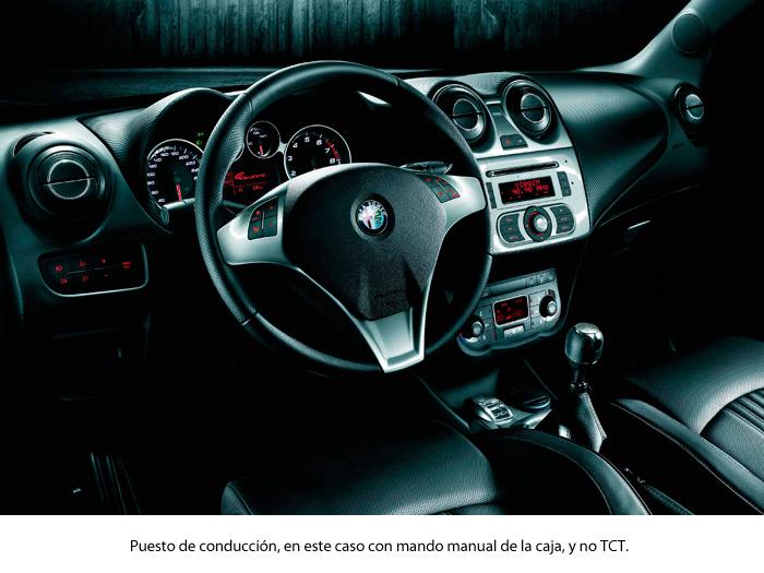 Alfa-Romeo MiTo 1.4-TB MultiAir TCT. Puesto de conducción