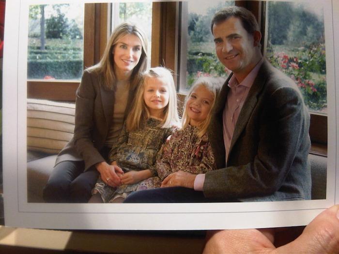 Familia de los príncipes de Asturias. Letizia, Leonor, Sofia, Felipe.