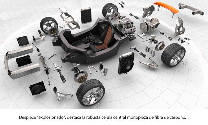 ¿Un McLaren MP4-12C?: ¡ni en sueños! Despiece