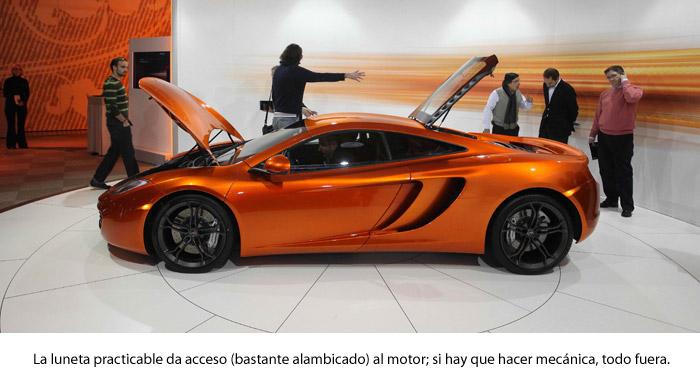 ¿Un McLaren MP4-12C?: ¡ni en sueños!. Luneta trasera