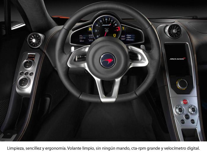 ¿Un McLaren MP4-12C?: ¡ni en sueños! Volante. Interior.