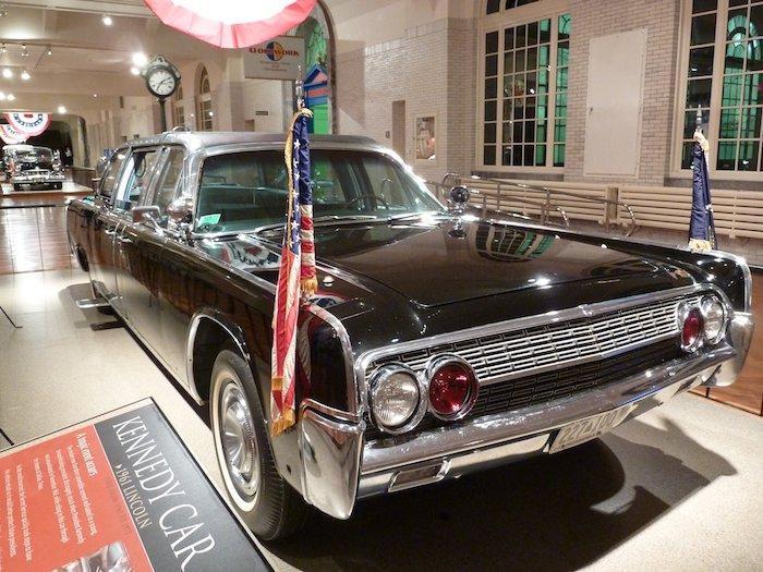Frontal del coche Kennedy. Kennedy car.