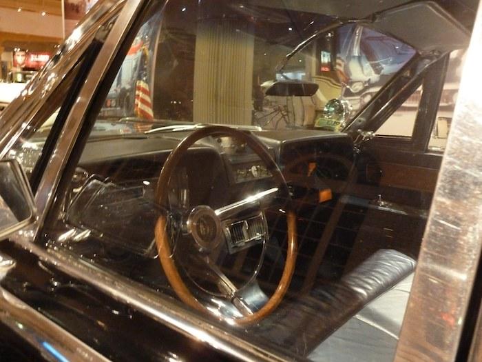 Aquí iba sentado mi colega, el chófer de J.F. Kennedy