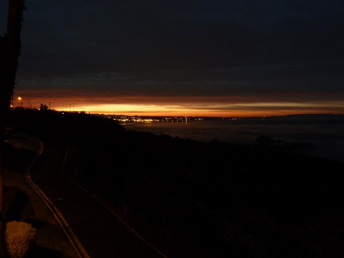 Estados Unidos. Amanecer. Pacífico. Noche