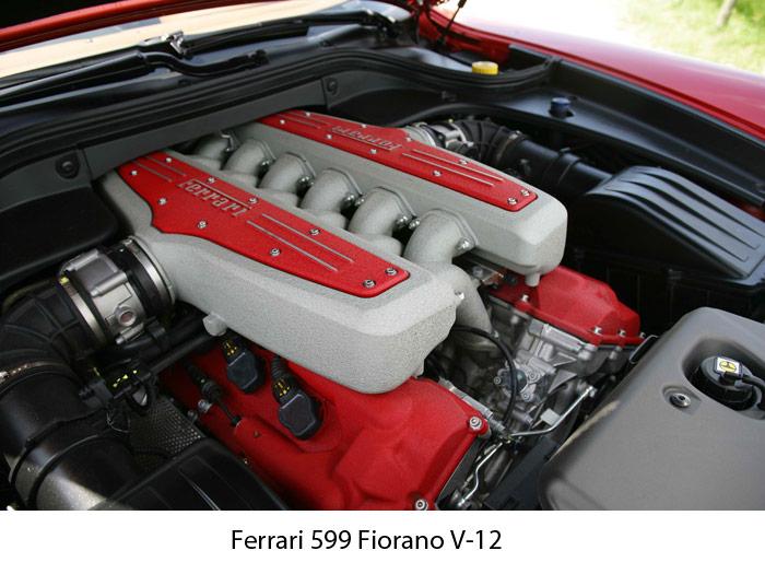 Ferrari 599 Fiorano V-12. Motor