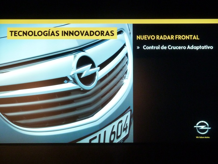Opel Insignia. Nuevo Radar frontal.