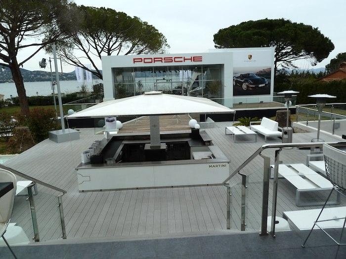 Porsche Boxster. Sala de Prensa. hotel Kube. Saint Tropez