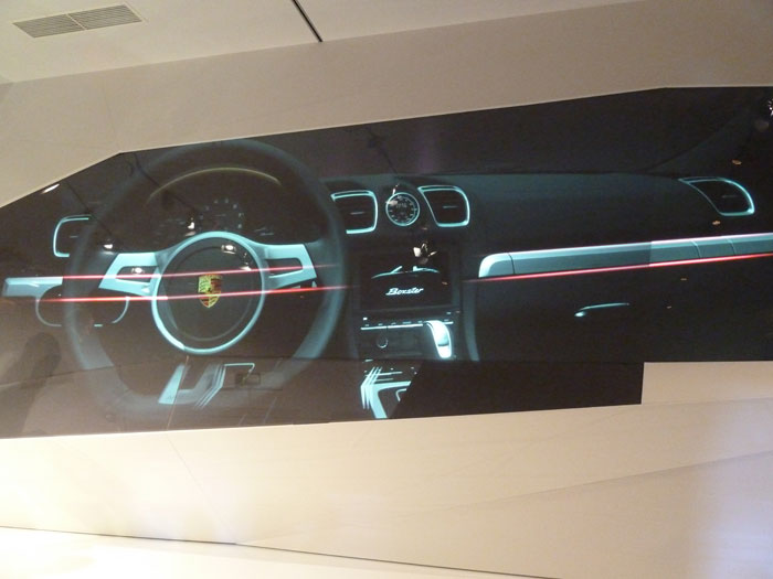 Porsche Boxster 2012. Interior, salpicadero