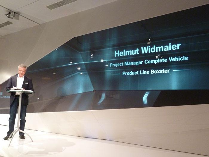 Helmut Widmaier. Vicepresidente ejecutivo de Porsche