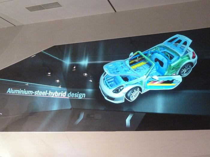Porsche Boxster 2012. Chasis de aluminio