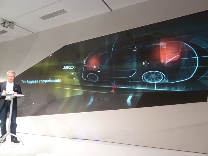 Porsche Boxster 2012. Con dos compartimentos para el equipaje