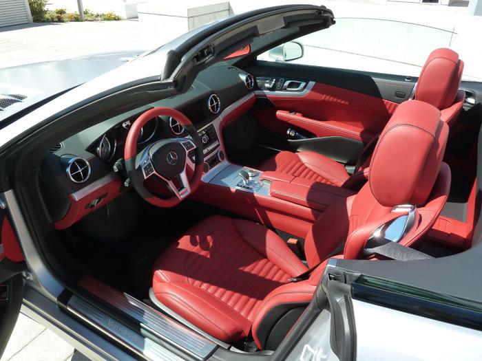 Mercedes-Benz Clase SL. Interior. Cuero exclusivo napa rojo bengala