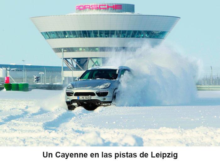 Un Cayenne en las pistas de Leipzig