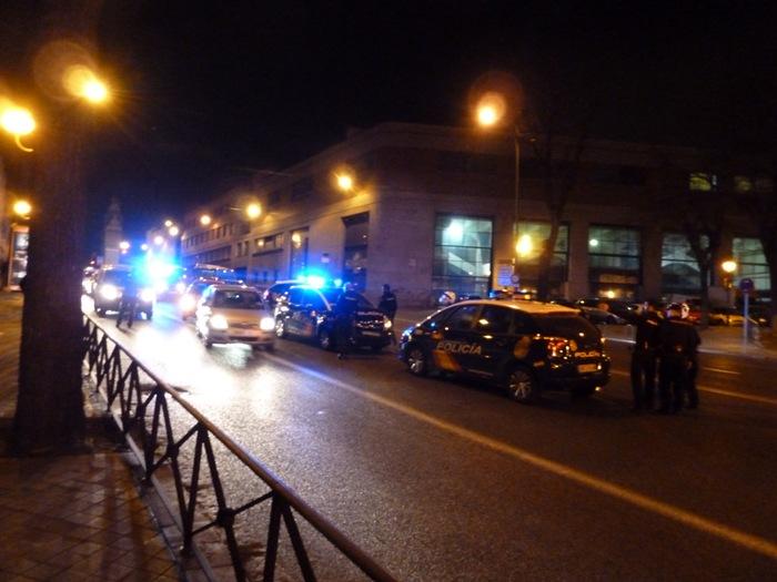 Madrid. Accidente. Policía Nacional. Ronda de Toledo