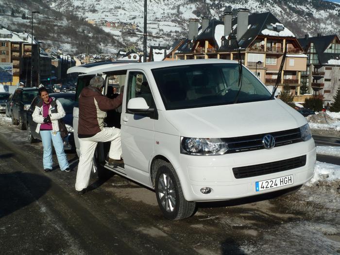 Las furgonetas son para el esquí