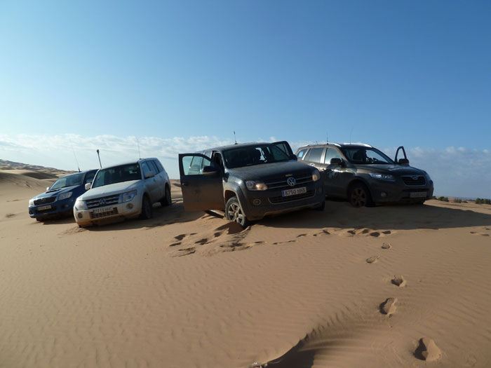 Dunas. Coches