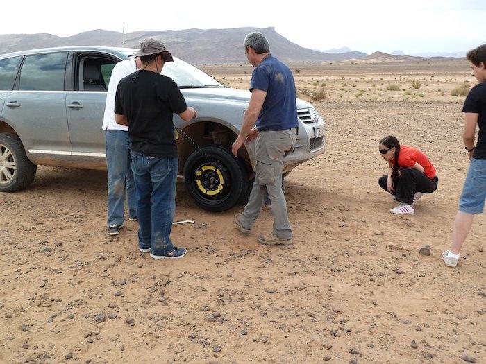 Rueda de galleta en el desierto