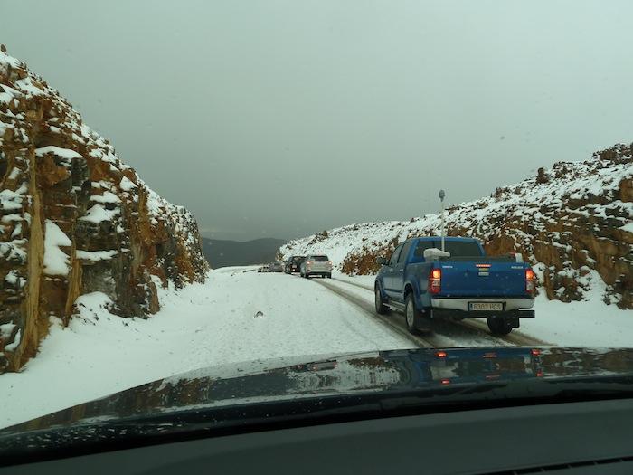 Carretera nevada. Descenso
