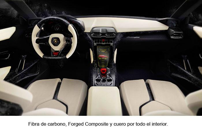 Fibra de carbono, Forged Composite y cuero por todo el interior.