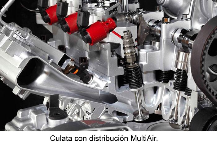 Culata con distribución MultiAir.