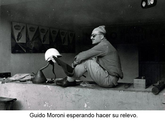 Guido Moroni esperando hacer su relevo
