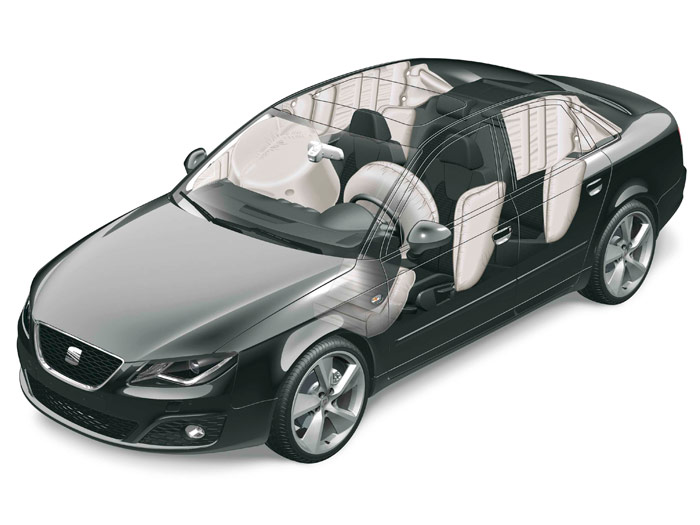 Seat Exeo 2.0-TDI 120 CV. Airbag
