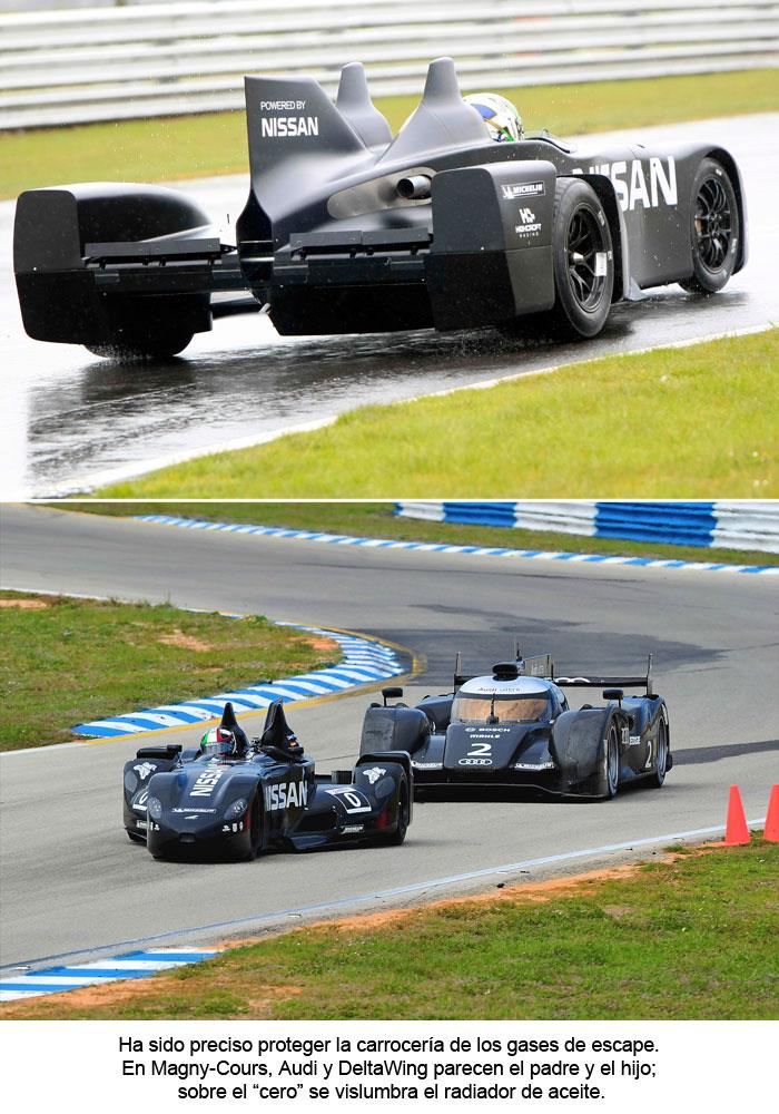 En Magny-Cours, Audi y DeltaWing parecen el padre y el hijo.