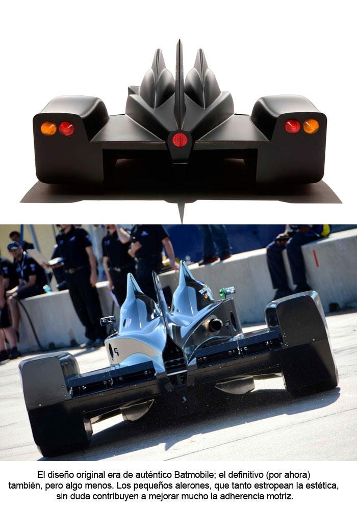 El diseño original era de auténtico Batmobile.