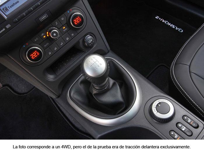 Nissan Qashqai. Palanca de cambios