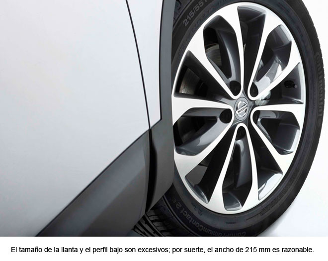 Nissan Qashqai. Llanta, rueda