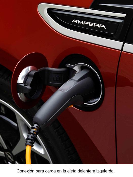 Opel Ampera. Conexión para carga