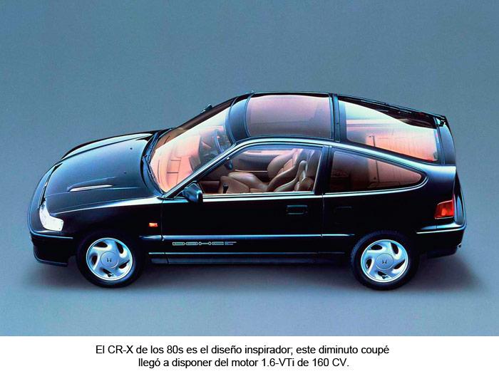 Honda CR-X de los 80s. Motor 1.6-VTi de 160 CV.
