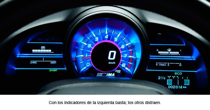 Honda CR-Z. Cuadro de instrumentación.