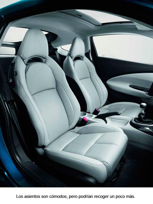 Honda CR-Z. Asientos delanteros.