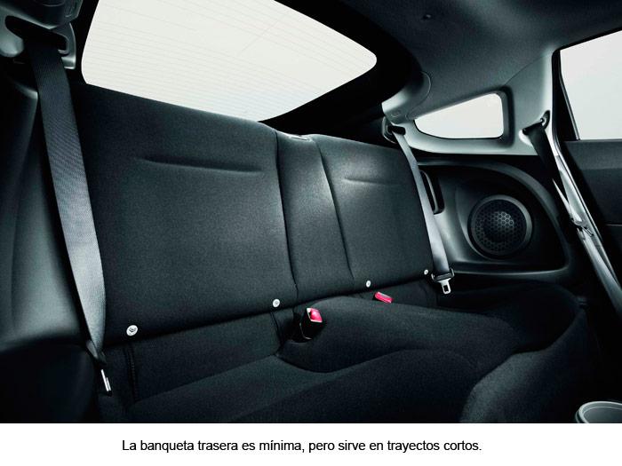 Honda CR-Z. Asientos traseros