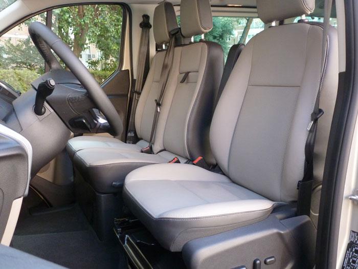 Ford Tourneo Custom. Asientos delanteros