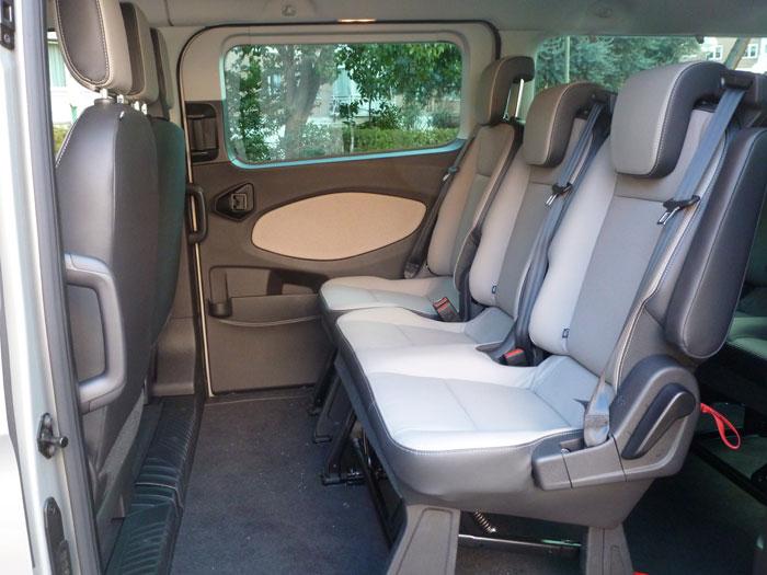 Ford Tourneo Custom. Plazas segunda fila
