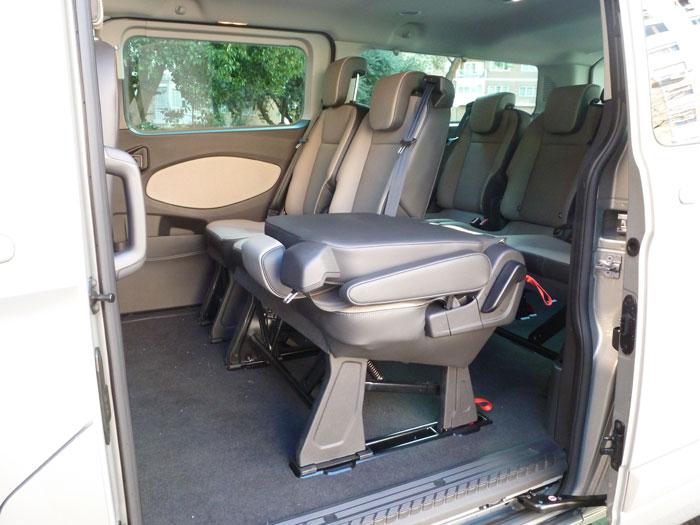 Ford Tourneo Custom. Configuración asientos traseros