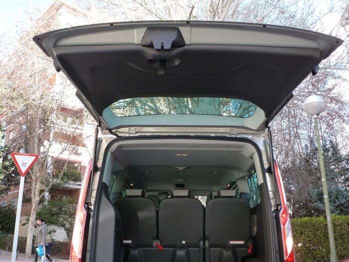 Ford Tourneo Custom. Portón del maletero