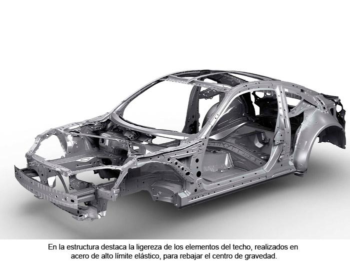 Toyota GT 86. Estructura