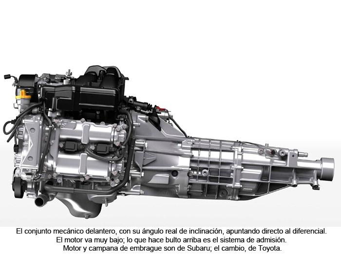 Toyota GT 86. Diferencial. Motor. Sistema de admisión