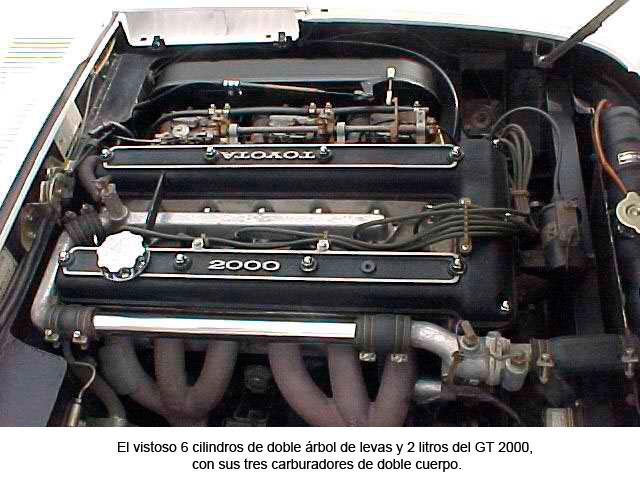 Motor GT 2000. 6 cilindros de doble árbol de levas y 2 litros