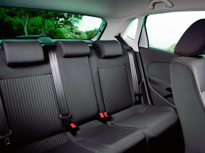 Volkswagen Polo. Espacio asientos traseros